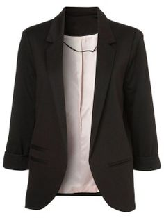 Shop Slim Blazer In Black from choies.com .Free shipping Worldwide.$30.99