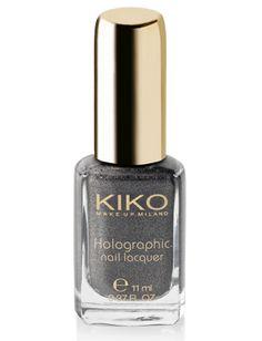 Holographic Nail Lacquer, £4.90    Shop here:  UK -> http://kikomila.no/8dfstd7  ES -> http://kikomila.no/sd7fg6  FR -> http://kikomila.no/789fdh  DE -> http://kikomila.no/7d8hfd  PT -> http://kikomila.no/f87dd8