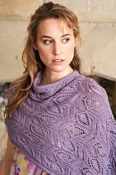 Redlynch Shawl; The Knitter Issue 45 Design by Jen Arnall Culliford