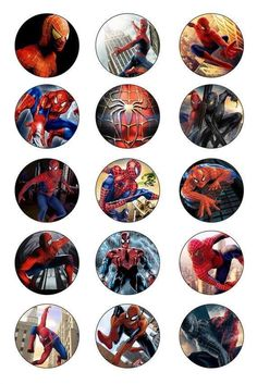 Shop for spiderman on Etsy, the place to express your creativity through the buying and selling of handmade and vintage goods. Bottle Cap Necklace, Bottle Jewelry, Bottle Cap Art, Bottle Cap Crafts, Bottle Top, Bottle Cap Images, Kids Planner, Edible Printing, Diy Buttons
