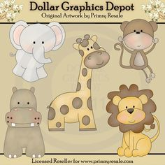 Jungle Babies - $1.00 : Dollar Graphics Depot, Your Dollar Graphic Store