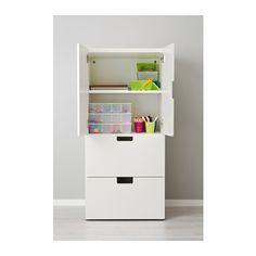 """STUVA Storage combination w doors/drawers - white/white, 23 5/8x19 5/8x50 3/8 """" - IKEA"""