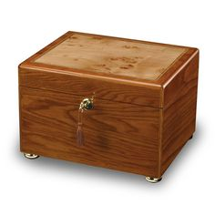 - Wooden memorial chest featuring a high-gloss finish with a complementing inlaid burl on the top and velvet-lined interior. - Burl wood is made from areas of a tree where the grain pattern is unique