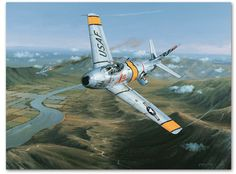 Combat Over Korea by Philip E. West - On July 19th, 1953, after his flight of four F-86s was set upon by 16 MiGs, John Glenn pursued and shot down one of the enemy fighters, the second of three he shot down during the Korean War.