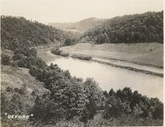 Norris Lake Tennessee Little Cove Creek before Norris Dam was built.