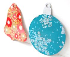 Our wooden christmas decorations look great covered in Decopatch paper.  http://www.countrylovecrafts.com/product_item.php?supplier_code=MDFS01_id=33213