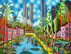 sharona park tel aviv naive painting art by raphael perez market garden shops arits  rafi peretz (Painting),  200x150 cm by Raphael Perez sharona park naive paintings haifa bahai garden naive painting jew arab live in peace bahi temple israel paintings raphael perez artist starry night on tel aviv beach after van gogh goch    , naive, painting, art by,raphael ,perez, raphael perez, naive art, naive paintings, naive painting, naive artwork, naive artworks, naive gallery, naive galleries, tel…