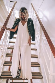 White jumpsuit | @andwhatelse