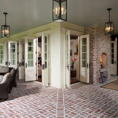 Porch French Doors Design, Pictures, Remodel, Decor and Ideas