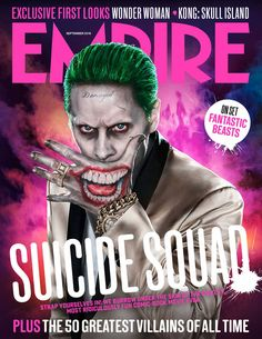Suicide Squad  Here's another picture of Leto's Joker on the cover of Empire