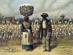 'Cotton Pickers', oil painting on panel by William Aiken Walker