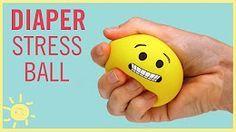 DIY | Emoji Stress Ball (made from a Diaper!!) - YouTube