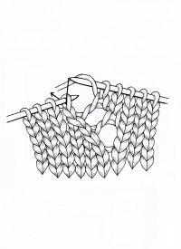 Lochmuster stricken, Lochmuster mit nach rechts und links versetzten Maschen, Lochstrickmuster wirken je nach Material ganz unterschiedlich