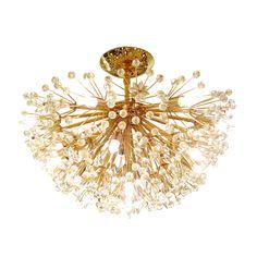 Brass starburst flush mount ceiling fixture | Flush Mounts | John Salibello