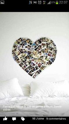 Une belle façon d'accrocher des photos