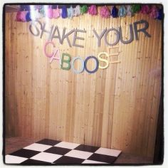 shake your caboose dance floor for a girls train birthday party