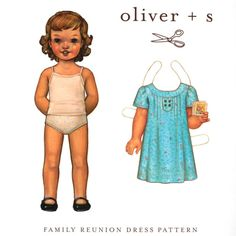 Oliver + S Family Reunion Dress Pattern Size 5-12