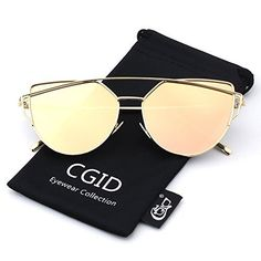 CGID Womens Modern Fashion Mirror Polarized Cat Eye Sunglasses Goggles UV400Gold Pink This is rated as one of the best selling products online in Luggage category in Canada. Click below to see its Availability and Price in YOUR country.