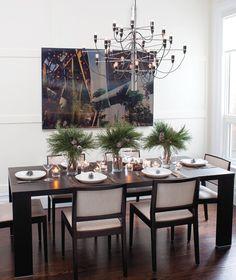 Contemporary Winter Table Setting - Designer:Patti Rosati