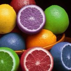 Food color injected lemons! Neat science project! #FoodLesson #FoodScience