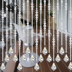 Aliexpress.com : Buy Dull polish glass crystal bead curtain for window room wedding backdrop decoration from Reliable curtain trim tassel fringe suppliers on NORMANS | Alibaba Group