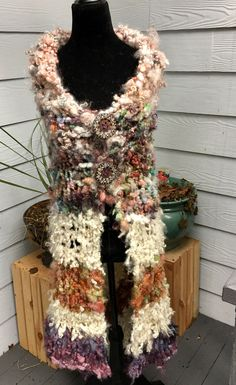 A personal favorite from my Etsy shop https://www.etsy.com/listing/510041749/boho-art-yarn-shawl