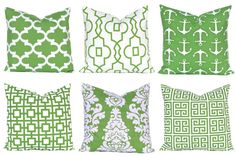 Kelly Green Pillows Pillow Covers Decorative by FestiveHomeDecor Premier Prints Green Cushions