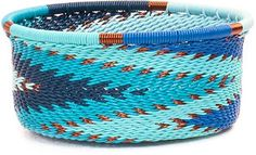 African Basket - Zulu Wire - Small Bowl with Straight Sides 44490
