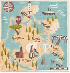 Stuart Kolakovich - Map of Rugen, Germany