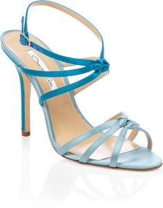 Oscar De La Renta Blue Blue Hudosn Strappy Heel