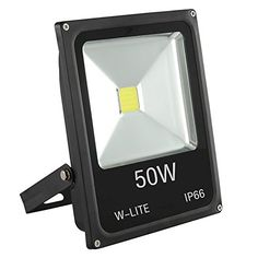 WLITE 50W Super Bright LED Floodlight Outdoor 3500Lm 350W Halogen Bulb Equivalent Lighting for GardenYardLawnPatioPorch Waterproof Security Lamp Aluminum 6000K Cold White *** Check this awesome product by going to the link at the image. This is Amazon affiliate link.