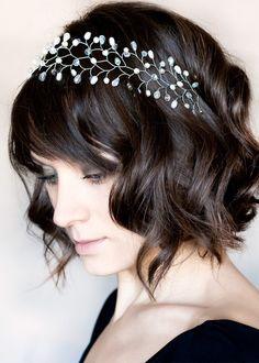 Crystal headband, Headband, Silver bride headband, Hair accessories, Bridal hair accessory wedding, Headbands, Tiara.