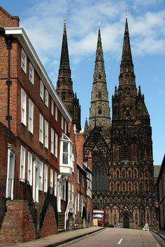 Lichfield Cathedral, Staffordshire, England, UK