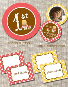 DIY Printable Birthday Party Package Woodland Fairy COLLECTION Customizable Totful Memories