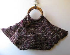 marbled tote bag  knitted in blend wool with bamboo by branda, $100.00