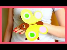 Simple DIY for kids paper Bee puppet - YouTube