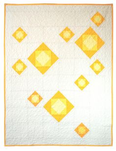 """I'm really enjoying this """"Yellow Bloom Quilt"""" by Carson Converse."""