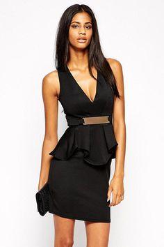 10dd2a9aff  46 - Black Deep V Ruffle Dress Sale INSTA FANCI - INSTA FANCI - 1 Club