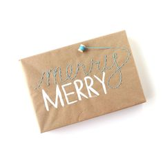 Lines Across: Embroidered Gift Wrap and 24 Kraft Paper Wrapping Ideas