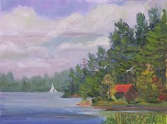 1000 Islands Paintings: Plein Air Painting The Indian River Lakes, Northern NY