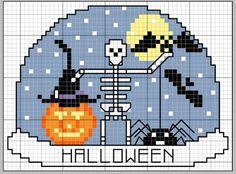 halloween Fall Cross Stitch, Mini Cross Stitch, Cross Stitch Needles, Cross Stitch Charts, Cross Stitch Designs, Cross Stitch Patterns, Halloween Embroidery, Halloween Cross Stitches, Cross Stitching