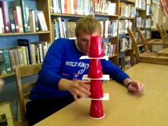 'Yank Me' - Minute to Win it! Family Fun Games, Youth Group Games, Family Fun Night, Youth Activities, Games To Play, Holiday Games, Christmas Party Games, Adult Games, Games For Girls