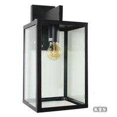 KS | Buitenverlichting | muurlamp | Klassiek trendy | Buitenlamp Hampton RVS H:44cm