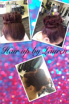 A hair up I done as part of my hairdressing training:)
