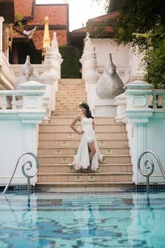 Cinderella bridal editorial at the Dhara Dhevi Chiang Mai Thailand Photo credit: (C) Petronella Photography http://bypetronella.com