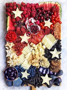 Fourth Of July Food, 4th Of July Celebration, 4th Of July Party, 4th Of July Ideas, Patriotic Party, Patriotic Crafts, July Crafts, Holiday Treats, Holiday Recipes