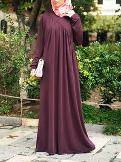 Athens Gathered Jersey Abaya