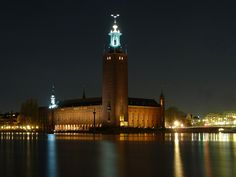 Stockholm City Hall, Sweden - where the Nobel Prize ceremony is held