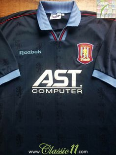 f4fe834d8c8 Relive Aston Villa's 1995/1996 season with this vintage Reebok away football  shirt. Classic