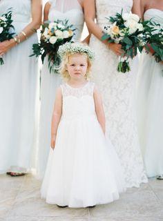 Sweet little one! http://www.stylemepretty.com/2015/08/28/black-tie-palm-beach-wedding/   Photography: Jessica Lorren - http://jessicalorren.com/